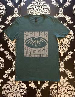 "41 Men's Anvil Tri-Blend ""BJ"" Heather Dark Green,Grey $20 Sizes S-3XL"