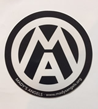 "43  5"" Round Outdoor Vinyl Decal ""MA"" $2.00"
